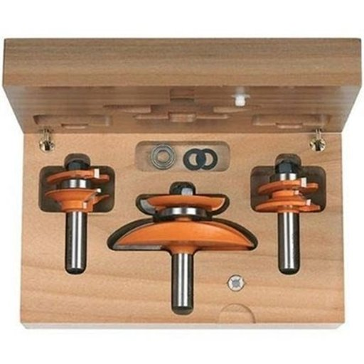 "View a Larger Image of 800.517.11 Cove Raised Panel Router Bit Set 1/2""SH"