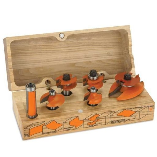 "View a Larger Image of 800.520.11 Cabinetmaking Router Bit Set Ogee Profile - 1/2""SH"