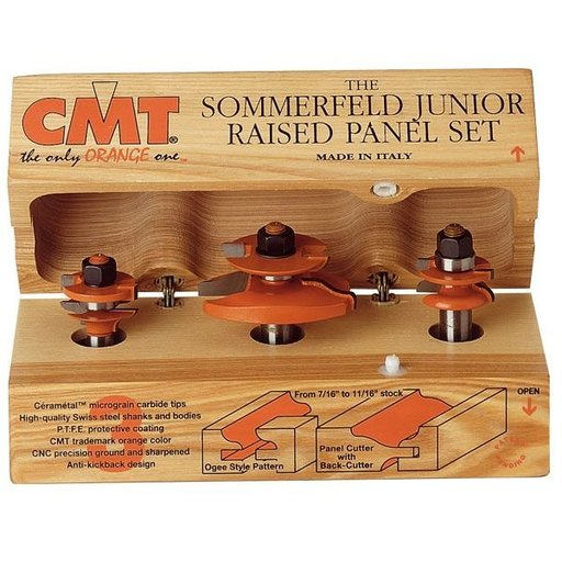"View a Larger Image of 800.522.11 Ogee Junior Raised Panel W/Back Cutter Router Bit 1/2""SH"