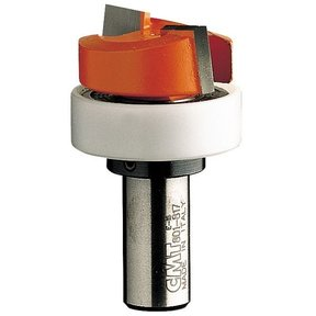 "801.817.11B Mortising Router Bit with Top Bearing 1/2""SH 1-1/4""D 1/2""CL 1-1/4""BD"