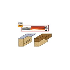 "806.191.11 Flush Trim Router Bit 1/4""SH 3/4""D 1""CL 3/4""BD"
