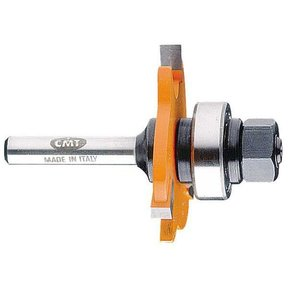 "822.332.11A Slot Cutter with Arbor And Bearing Router Bit 1/4""SH 1/8""H 1-7/8""D"