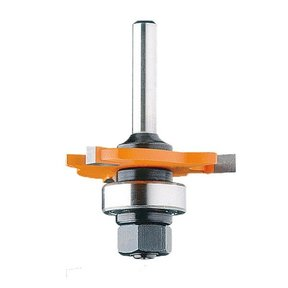"822.364.11B Slot Cutter with Arbor And Bearing Router Bit 1/2""SH 1/4""H 1-7/8""D"