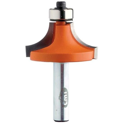 "View a Larger Image of 838.991.11 Roundover Router Bit 1/2""SH 7/8""R 2-1/4""OD 1-1/8""CL 1/2""BD"