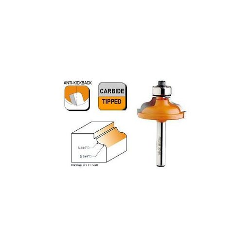 """View a Larger Image of 846.825.11 Ogee with Fillet Router Bit 1/2""""SH 3/16""""-9/64""""R 1-3/8""""OD 1/2""""CL"""