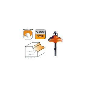 "847.325.11 Ogee with Fillet Router Bit with Inset Bead 1/4""SH 3/16""-9/64""R 1-3/8""OD 1/2""CL"