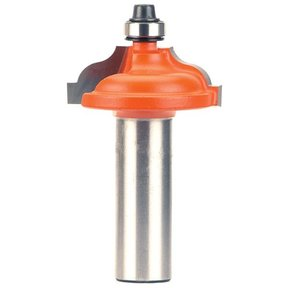 "847.825.11 Ogee with Fillet Router Bit with Inset Bead 1/2""SH 3/16""-9/64""R 1-3/8""OD 1/2""CL"