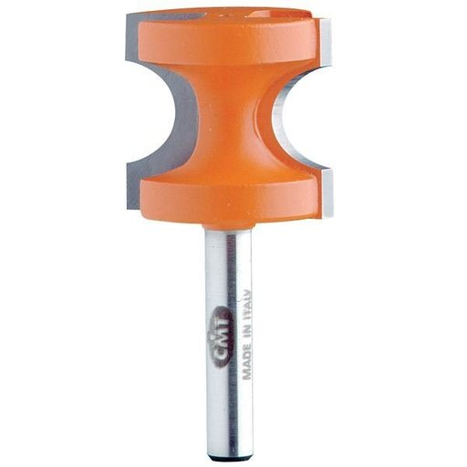 "View a Larger Image of 854.504.11 Bull Nose Router Bit 1/2""SH 1/4""R 1/2""BD 1-1/8""OD 1""CL"