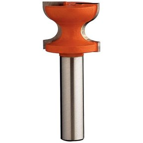 "855.805.11B Window Sill Router Bit with Top Bearing 1/2""SH 1-1/2""D 1-3/8""CL 3/8""R1 1/2""R2"