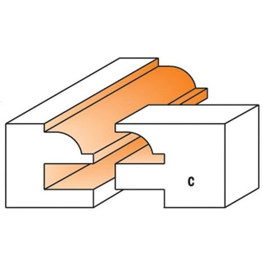 """View a Larger Image of 891.503.11 Rail And Stile Router Bit C Bead 1/2""""SH 1-3/4""""OD 23/32"""" to 7/8""""ST"""