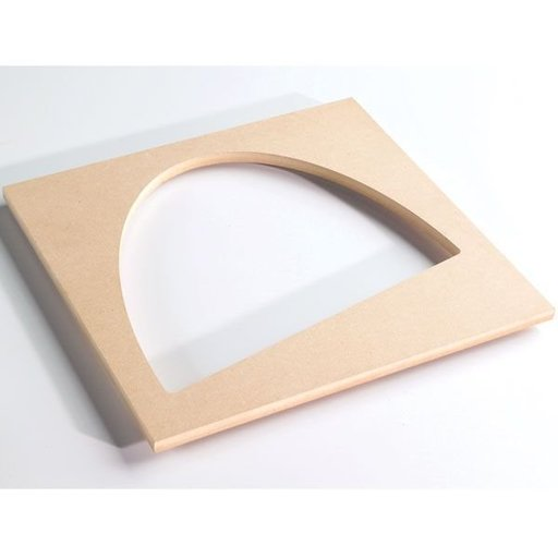 View a Larger Image of Bowl and Tray Router Template, Oval Angle Half, # TMP-012