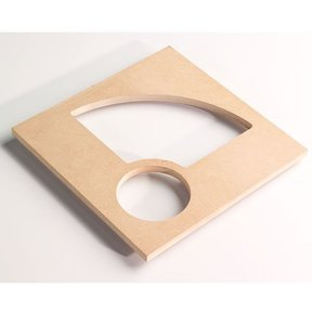Bowl and Tray Router Template, Quarter with Center, # TMP-011