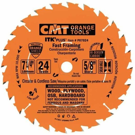 "View a Larger Image of P07024-X10 Fast Framing Saw Blade, 7-1/4"" x 24T x 5/8"" bore, 10 pack"