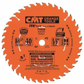 "P08040 Finish Saw Blade, 8-1/4"" x 40T x 5/8"" bore"