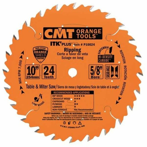 "View a Larger Image of P10024 Ripping Saw Blade, 10"" x 24T x 5/8"" bore"