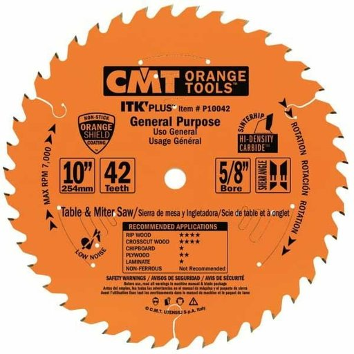 "View a Larger Image of P10042 General Purpose Saw Blade, 10"" x 42T x 5/8"" bore"