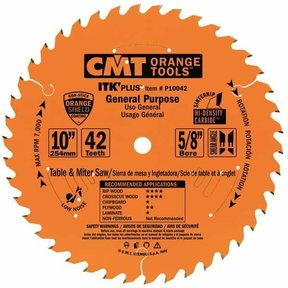 "P10042 General Purpose Saw Blade, 10"" x 42T x 5/8"" bore"