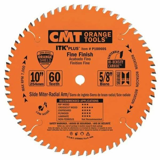 "View a Larger Image of P10060S Fine Finish on Slide/Miter Saw Blade, 10"" x 60T x 5/8"" bore"