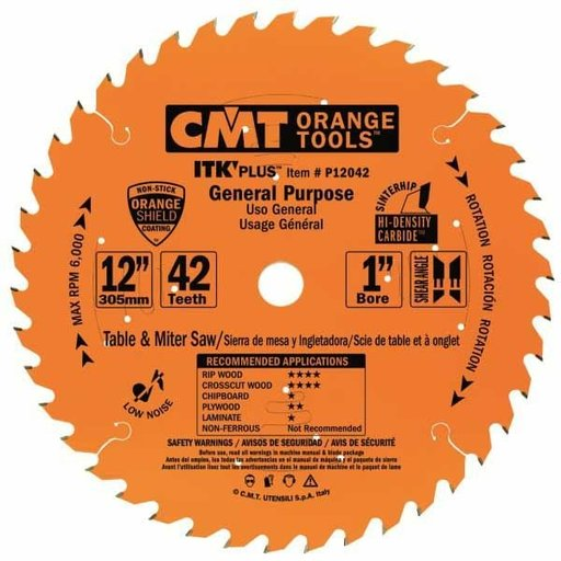 "View a Larger Image of P12042 General Purpose Saw Blade, 12"" x 42T x 1"" bore"