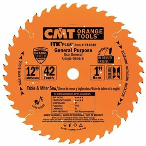 "P12042 General Purpose Saw Blade, 12"" x 42T x 1"" bore"