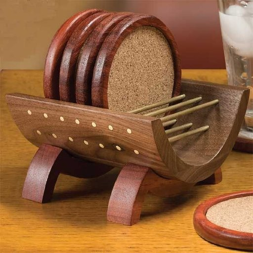 View a Larger Image of Coasters and Cradle - Downloadable Plan