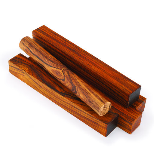 "View a Larger Image of Cocobolo 3/4"" x 3/4"" x 5"" Pen Blank Set 15-piece"