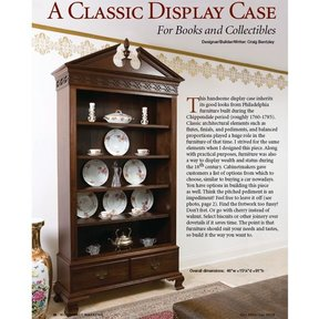 Colonial Bookcase - Downloadable Plan