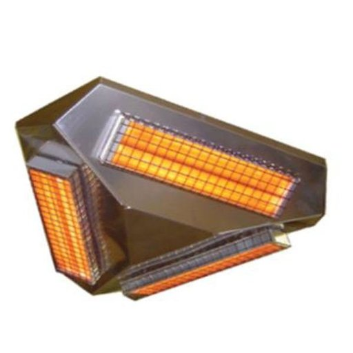 View a Larger Image of Comfort IR 360 3 Infrared Heater, 1950W, Stainless Steel
