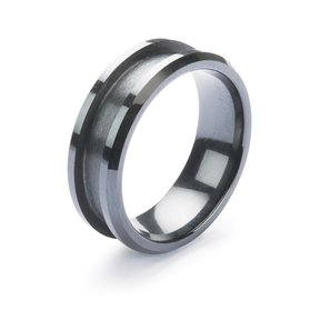 Comfort Ring Core - Black Ceramic - 8mm, Size 10.5