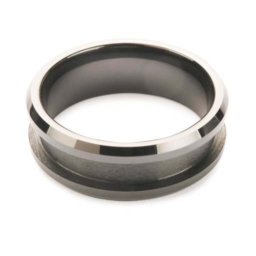 View a Larger Image of Comfort Ring Core - Black Ceramic - 8mm, Size 12