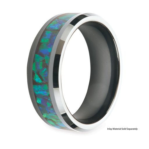 View a Larger Image of Comfort Ring Core - Black Ceramic - 8mm, Size 13.5