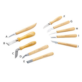 Complete Set of 10 Chip Carving Knives - Best Value