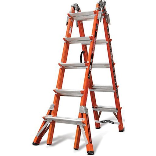 View a Larger Image of Conquest, Fiberglass articulating ladder with V-rung