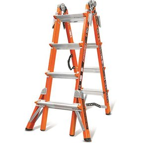Conquest, Model 17  Fiberglass articulating ladder with V-ru