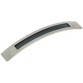 """Contemporary Pull, 7-9/16"""" Center-to-Center, Brushed Nickel"""