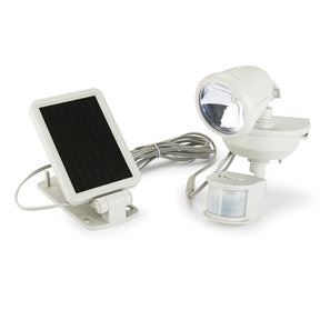 Cooper Lighting Motion Activated Solar Powered LED Floodlight, Taupe