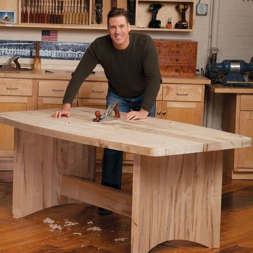 View a Larger Image of Coopered Leg Table - Downloadable Plan