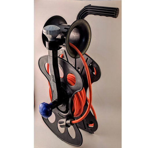 View a Larger Image of Cord, Hose and Cable Storage Organizer Storage Reel, Guide-Winder, Wall Storage Mount and 25' Power Cord