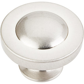 "Cordova Knob, 1-1/4"" Dia.,  Satin Nickel"