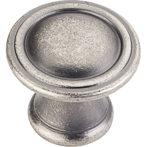 "View a Larger Image of Cordova Knob, 1-3/16"" Dia.,  Distressed Pewter"