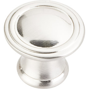 "Cordova Knob, 1-3/16"" Dia.,  Satin Nickel"
