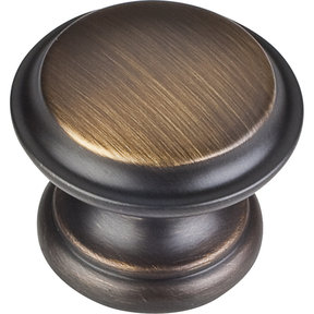"Cordova Knob, 1-3/8"" Dia.,  Antique Brushed Satin Brass"