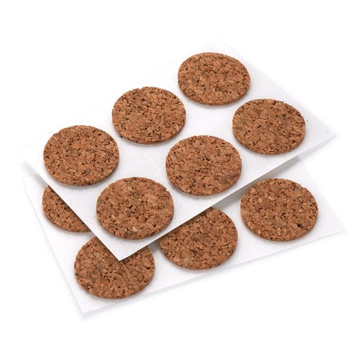 "View a Larger Image of Cork 3/4"" D 24 pc Self-adhesive Dots"