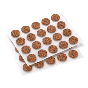 "Cork 3/8"" D 40 pc Self-adhesive Dots"