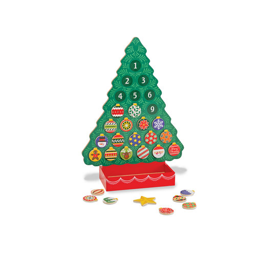 View a Larger Image of Countdown to Christmas Wooden Advent Calendar, Magnetic Tree, 25 Magnets
