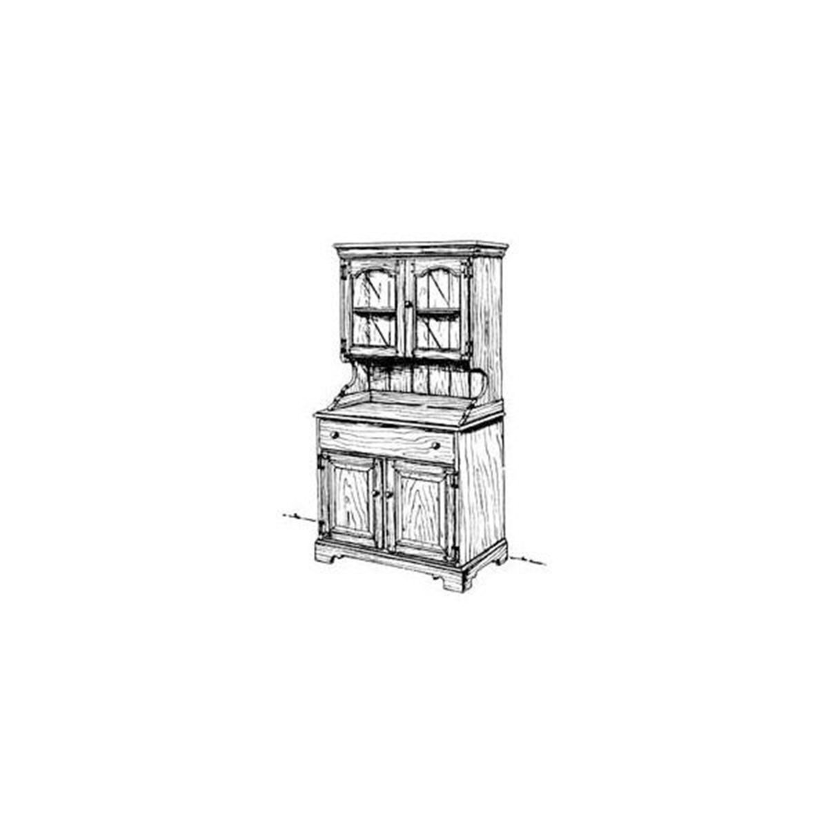 Woodcraft Country Buffet And Hutch Woodworking Plan