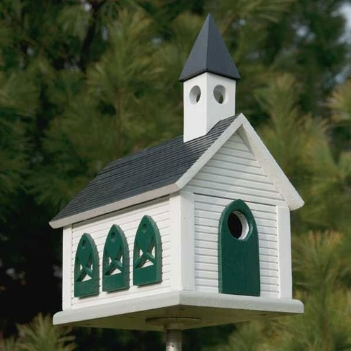 View a Larger Image of Country Church Birdhouse - Downloadable Plan