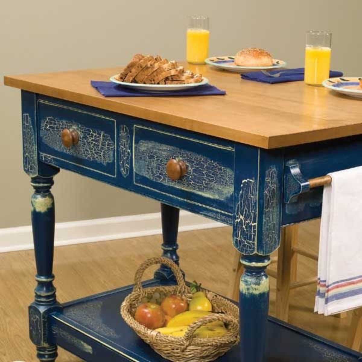 Woodcraft Magazine Country Kitchen Work Table Downloadable Plan