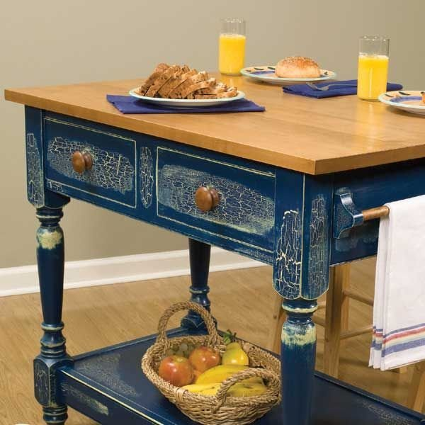 Country kitchen work table downloadable plan for Kitchen work