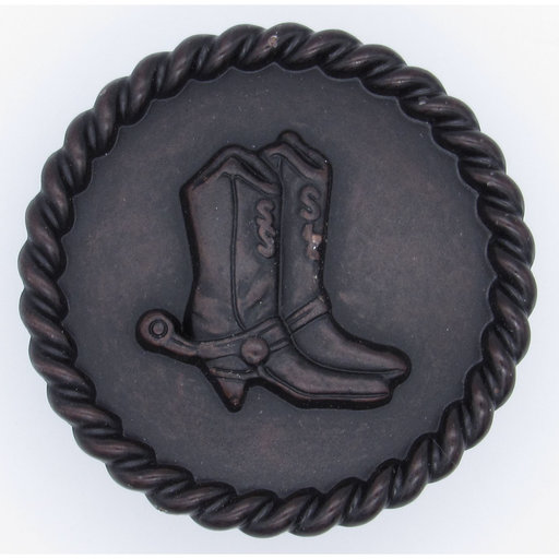 View a Larger Image of Cowboy Boots with Roped Edge Round Knob, Oil Rubbed Bronze